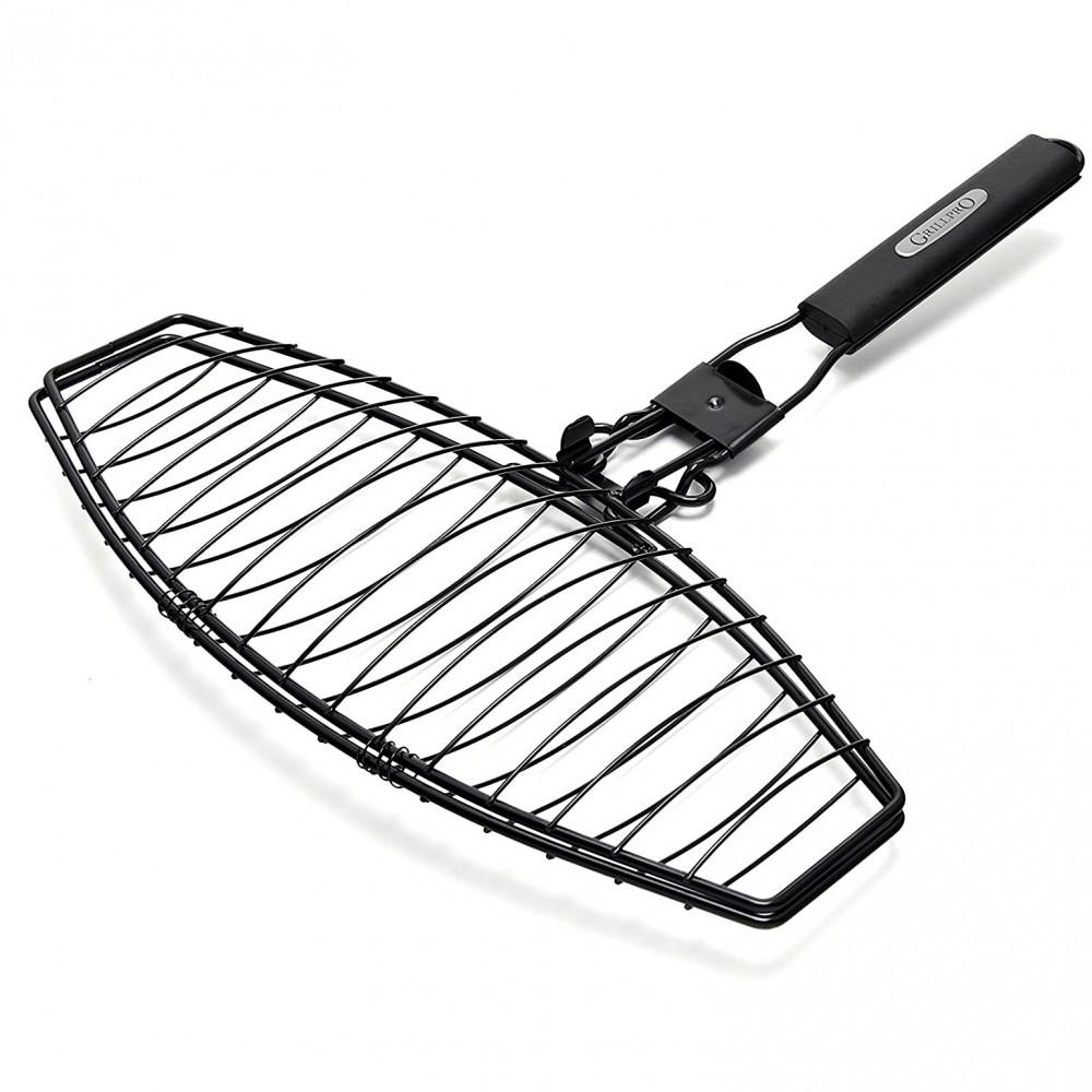 Сетка для рыбы со сменной ручкой Grill Pro