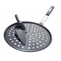 Противень для пиццы антипригарный с ножом Grill Pro, 30 см